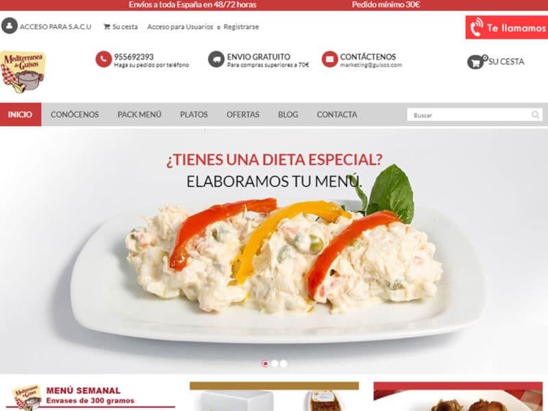 diseño tienda online mediterranea de guisos