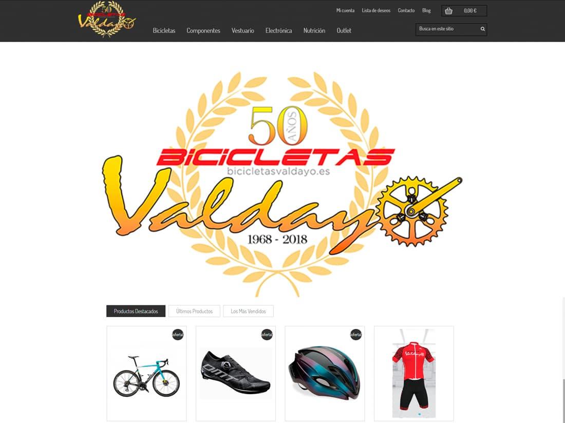 posicionamiento web bicicletas valdayo