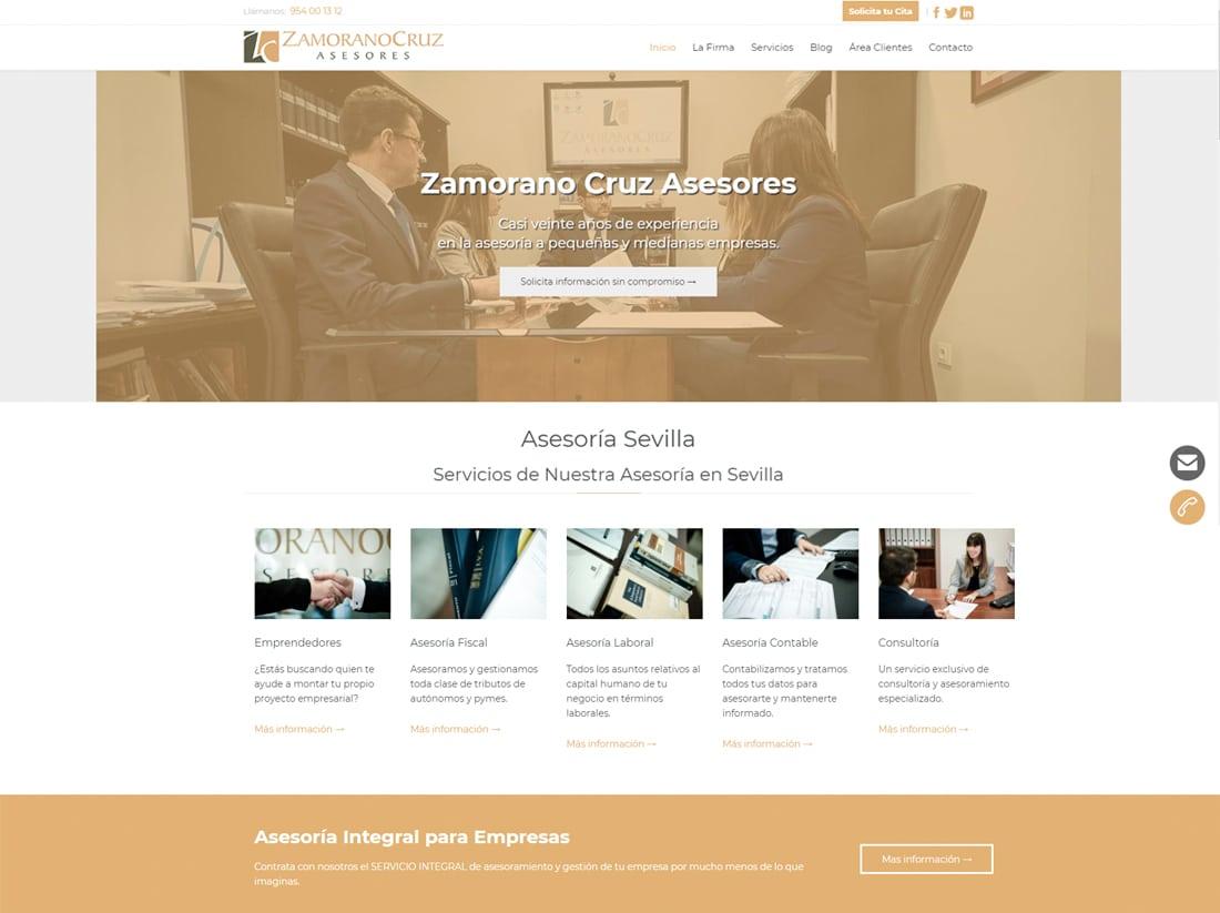 diseño web zamorano cruz asesores