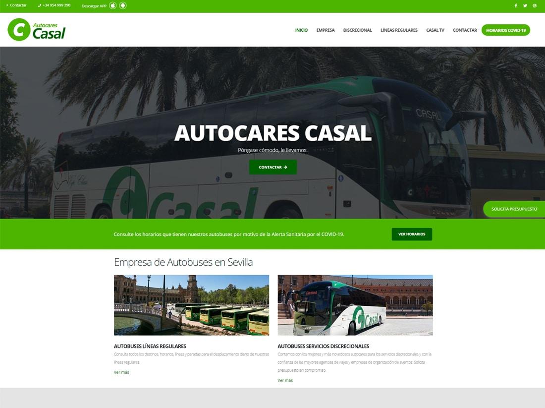 diseño web autocares casal