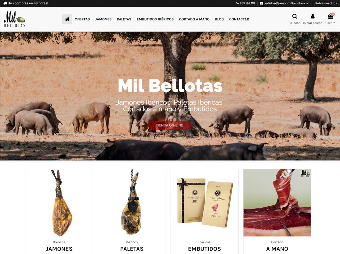 diseño tienda online jamon mil bellotas
