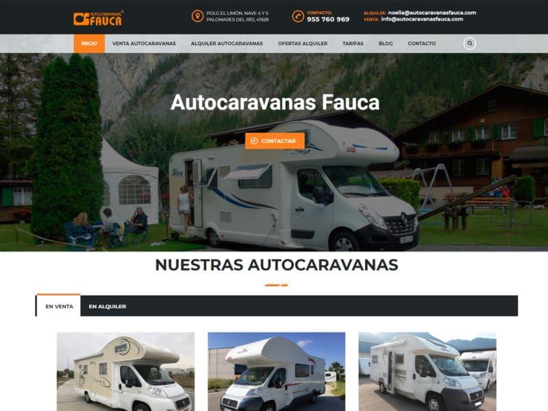 diseño web autocaravanas fauca
