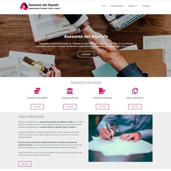 diseño web asesores del aljarafe