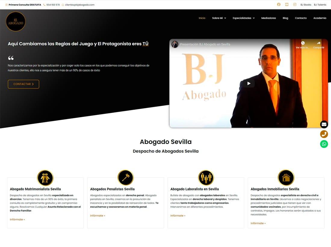 diseño web y posicionamiento web bj abogado