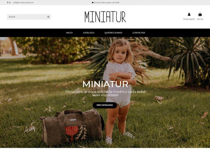diseño tienda online miniatur