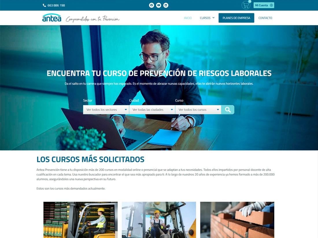 diseño tienda online cursos PRL