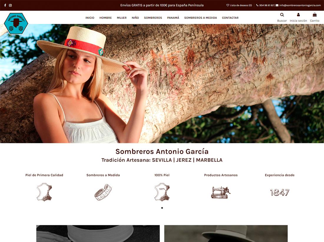 diseño tienda online antonio garcia sombreros