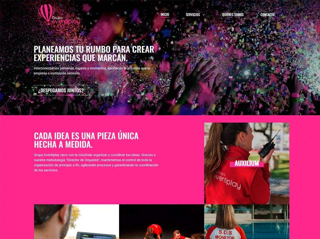 diseño web Grupo Eventiplay