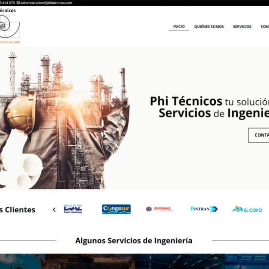 diseño web Phi Técnicos