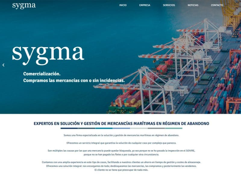 diseño web sygma