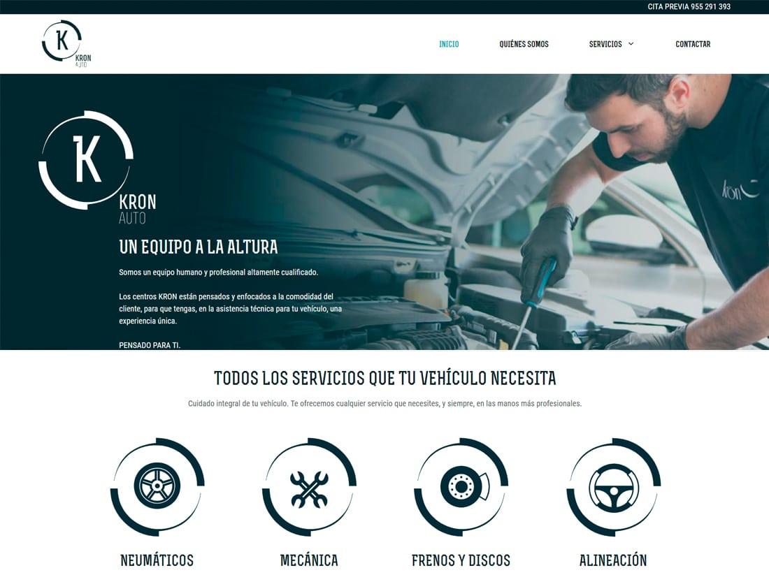 diseño web Kron Auto